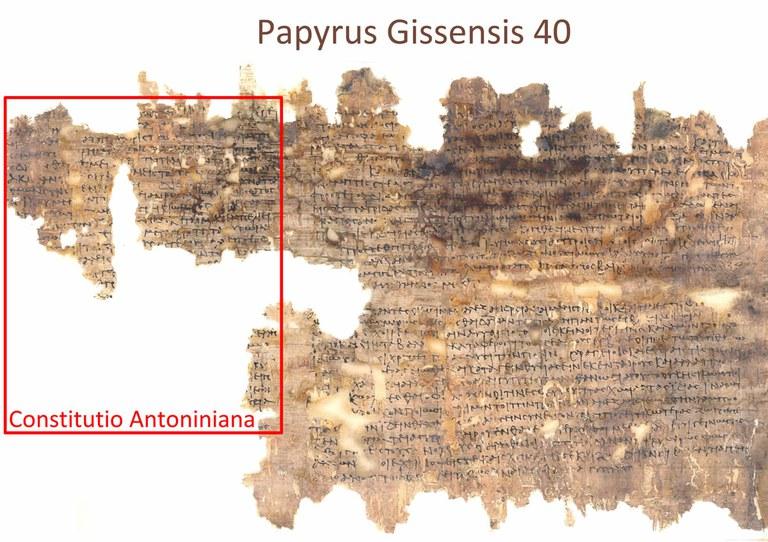 Totalaufnahme der Constitutio Antoniniana